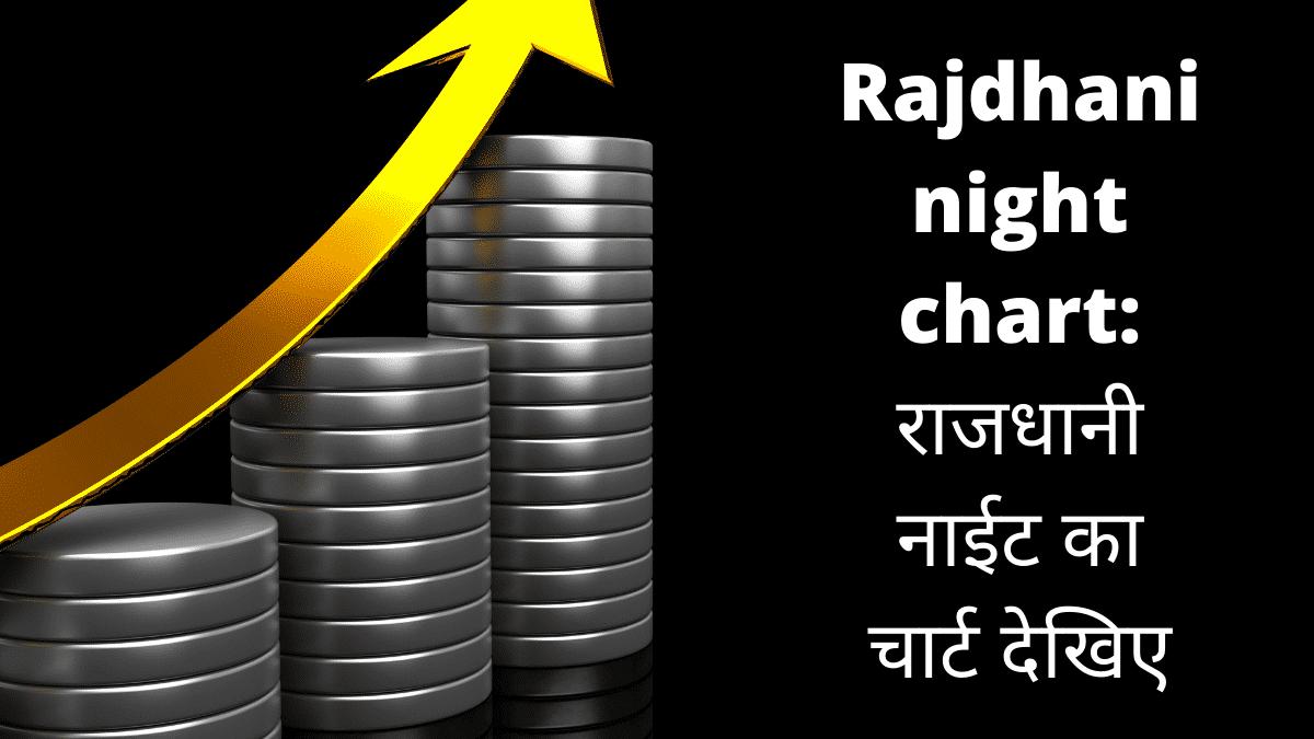 Rajdhani Night Chart: राजधानी नाईट का चार्ट देखिए