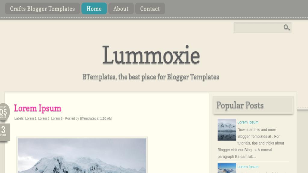 Lummoxie blogger templates
