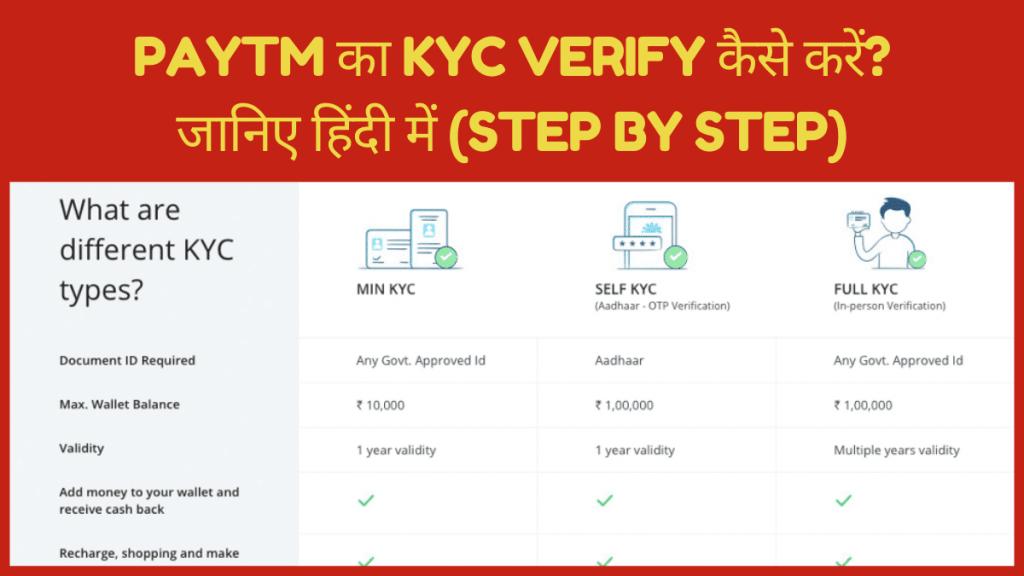 Paytm का kyc verify कैसे करें? जानिए हिंदी में (step by step)