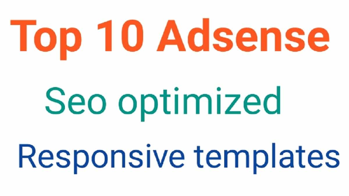 Top-10-Adsense-Seo-optimized-responsive-templates