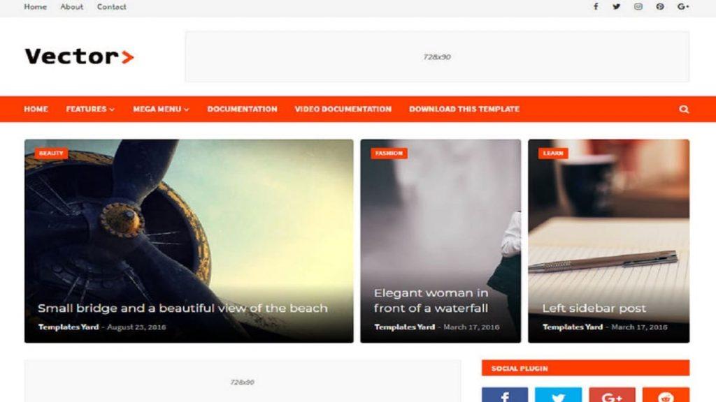 Vector-Blogger-Template