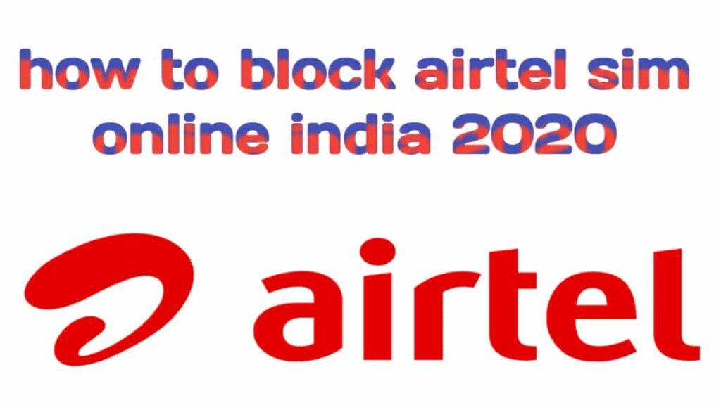 how to block airtel sim online india 2020